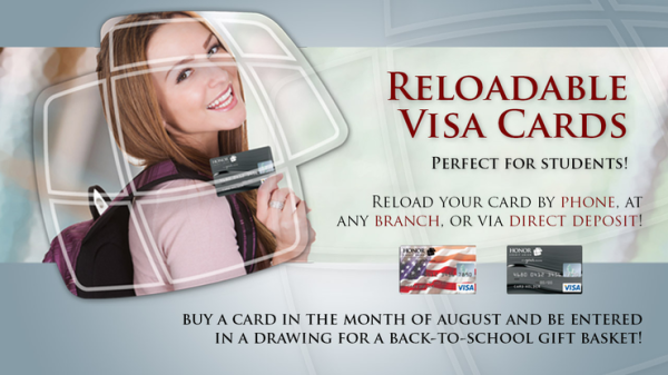 Reloadable Visa Cards for Students - Win Gift Basket