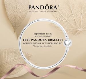 Get a Free Pandora Bracelet