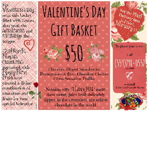 Orders your Valentine's Day Gift Basket - Vaisalia (Ivanhoe), CA